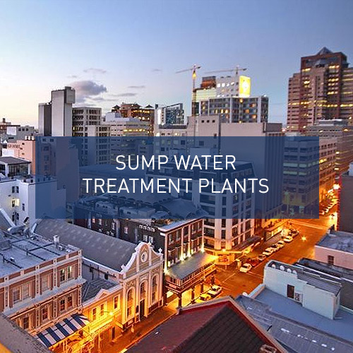Sump water treatment plants